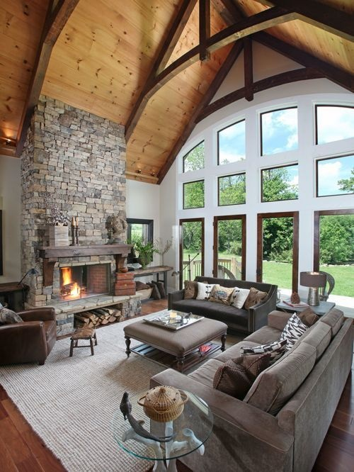 10 Most Popular Rustic Farmhouse Living Room Interior Design Ideas