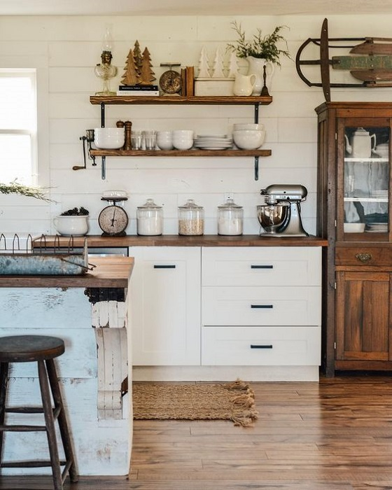 15 Attracting Open Kitchen Shelves Styles You Are Looking For