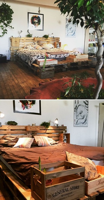 Inspirational Home Wooden Pallet DIY Ideas Make You Happy