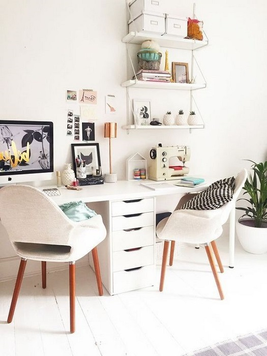 Smart Ways To Decorate Home Office Interior For Women Incredibly