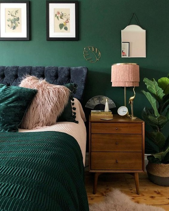 The Most 15 Inspiring Green Bedroom Ideas To Produce Positive Mind