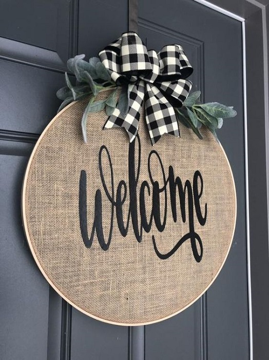 Decorate Your House With Inspring Front Door Welcome Sign DIY Make It At Home!
