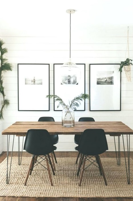 Modern And Minimalist Dining Room Design Ideas Beautified With Rustic Accents