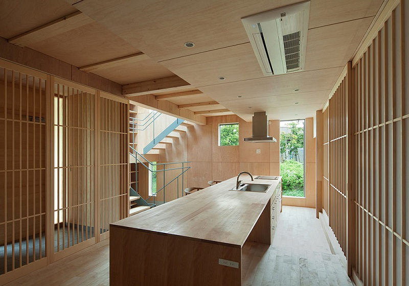 Inspiring Modern Japanese Kitchen Design Ideas Combined Soft Wooden Material In It